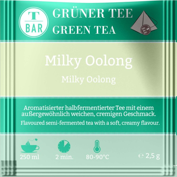 naturelei - China Milky Oolong - aromatisierte Oolong-Tee im Aufgussbeutel